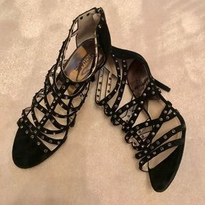 MK shoes in leather with crystals